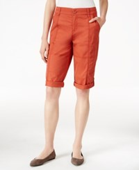 Styleandco. Style Co. Petite Cuffed Skimmer Shorts Only At Macy's Sienna Orange