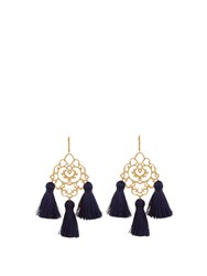 Marte Frisnes Rita Tassel Earrings Blue