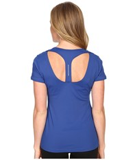 Lole Carys Top Limoges Women's Short Sleeve Pullover Blue