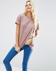 Asos The Ultimate Easy Longline T Shirt Mauve Pink