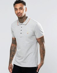 Diesel T Skin Pique Tipped Polo Grey