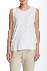 Joe Fresh Sequin Tank White