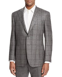 Canali Windowpane Classic Fit Sport Coat Mid Grey