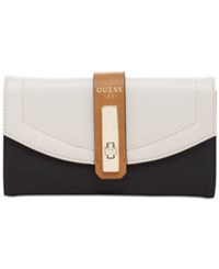 Guess Kingsley Slim Clutch Wallet Stone Multi