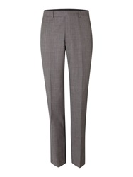 New And Lingwood Findlay Textured Flat Front Trousers Grey