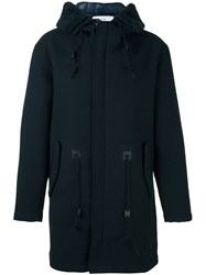 Closed Hooded Coat Black