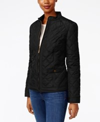 Charter Club Petite Quilted Jacket Only At Macy's Deep Black