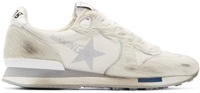 Golden Goose White And Grey Limited Edition Distressed Calf Hair Running Sneakers