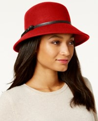 Nine West Felt Trench Coat Hat Red
