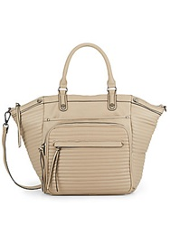 Steve Madden Braven Faux Leather Tote Taupe