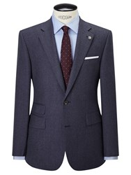 Chester Barrie By Flannel Wool Tailored Suit Jacket Airforce