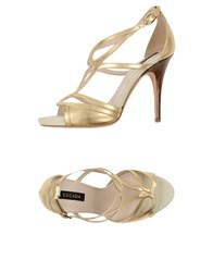 Escada Footwear Sandals Women Gold