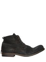 Shoto Laser Cut And Washed Leather Ankle Boots