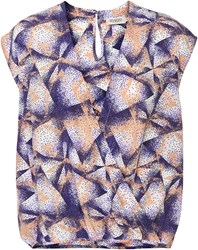 Soaked In Luxury Wrap Effect Top Multi Coloured