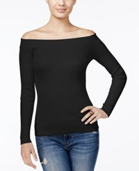 Guess Off The Shoulder Sweater Jet Black