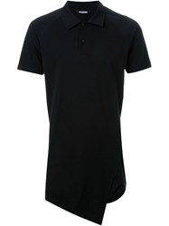 Moohong Long Asymmetric Polo Shirt Black