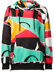 Moschino Abstract Print Hoodie Green