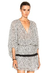 Lemlem Lula Top In White Abstract White Abstract