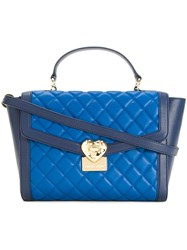 Love Moschino Quilted Tote Blue