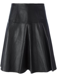 Michael Michael Kors Flared Knee Length Skirt Black