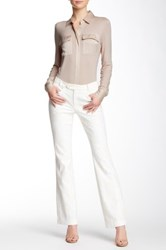 Pink Tartan Lace Flared Pant White