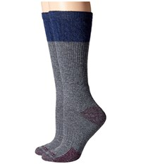 Carhartt Merino Wool Blend Textured Crew Socks 2 Pair Pack Charcoal Heather Women's Crew Cut Socks Shoes Gray
