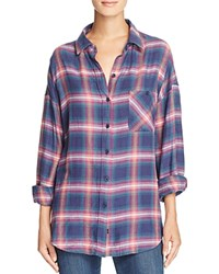 Rails Jackson Plaid Shirt Navy Jade Pink