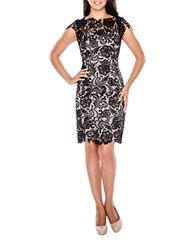 Decode 1.8 Floral Lace Dress Black Blush