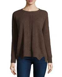 Design History Cashmere High Low Sweater Umberhtr