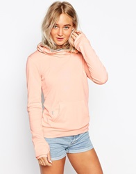 Bench Cowl Neck Jumper With Front Pocket Pink