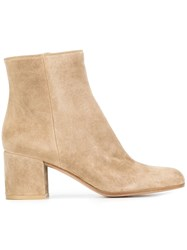 Gianvito Rossi 'Margaux' Ankle Boots Nude And Neutrals