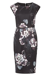 Sugarhill Boutique Lori Greyscale Floral Shift Dress Multi Coloured