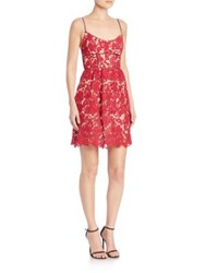 Abs By Allen Schwartz Sleeveless Lace Sundress Magenta