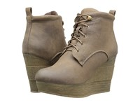 Sbicca Elsbeth Taupe Women's Lace Up Boots