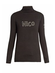 Bella Freud Nico Roll Neck Wool Sweater Black