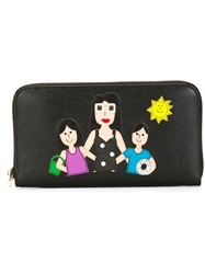 Dolce And Gabbana Family Patch Wallet Black