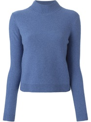 Tory Burch Turtle Neck Sweater Blue