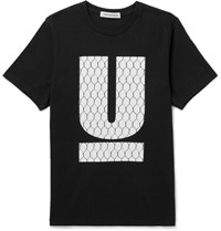 Undercover Printed Cotton Jersey T Shirt Black