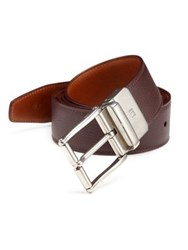 Dunhill Leather Belt With Brass Buckle No Color
