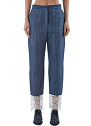 Lana Siberie Striped Gangster Suit Pants Blue
