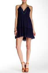 Blu Pepper Halter Neck Dress Blue