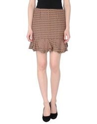 Gold Case Mini Skirts Khaki