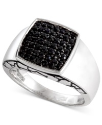 Effy Collection Gento By Effy Men's Black Sapphire Ring 1 Ct. T.W. In Sterling Silver