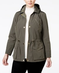 Charter Club Plus Size Hooded Anorak Jacket Only At Macy's Green Tea