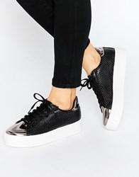 Asos Definitely Lace Up Trainers Black
