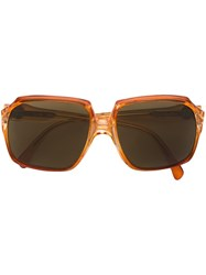 Yves Saint Laurent Vintage Oversized Frame Sunglasses Yellow Orange