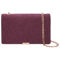 Ted Baker Avianna Studded Across Body Chain Strap Evening Bag Deep Purple