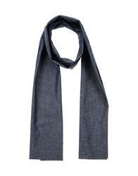 U Ni Ty Accessories Oblong Scarves Men Slate Blue