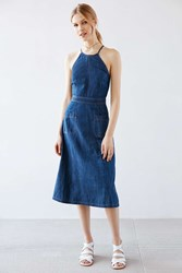 Kimchi And Blue Kimchi Blue Aubrie Denim Apron Midi Dress Vintage Denim Medium