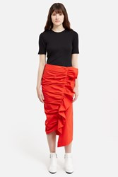 Isa Arfen Ruched Up Skirt Tomato Red
